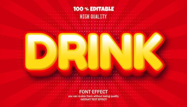 Boire un effet de texte, police modifiable