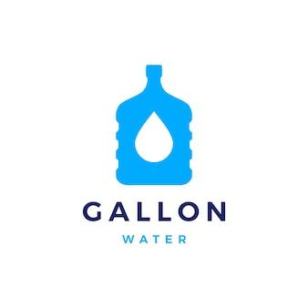 Boire le logo de recharge de gallon d'eau isolé sur blanc