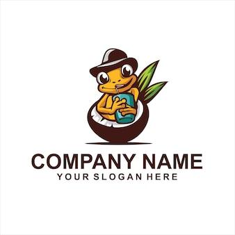 Boire un vecteur de logo au chocolat
