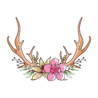 Bois de cerf floral