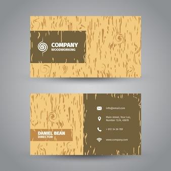 Bois texturé carte de visite