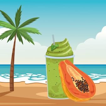 Boisson aux fruits tropicaux et smoothie