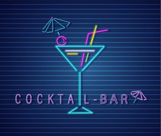 Boisson cocktail néon
