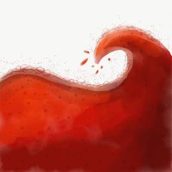 Boisson rafraîchissante au cola formant une vague
