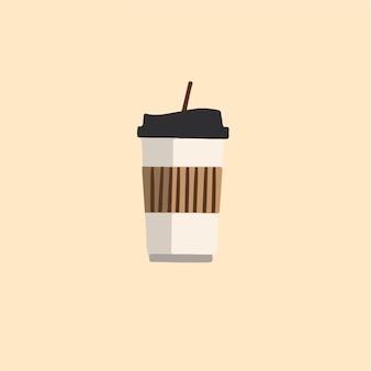 Boisson tasse symbole médias sociaux post illustration vectorielle
