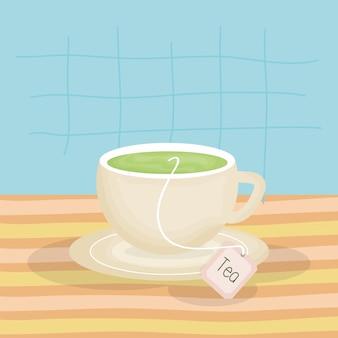 Boisson de tasse de thé délicieux