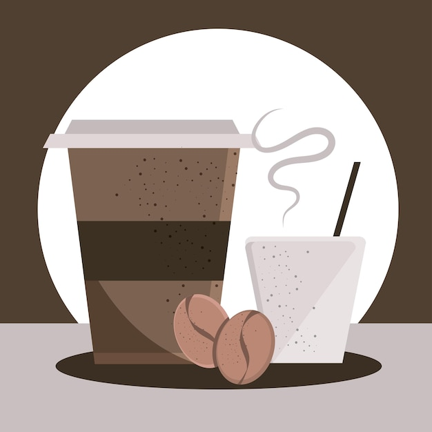 Boissons au café en jetables