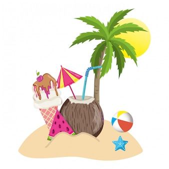 Boissons d'été et tropicales