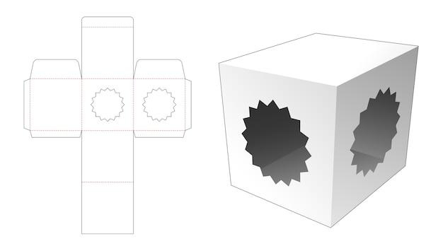 Boîte avec 2 gabarits découpés à l'emporte-pièce