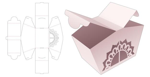 Boîte à 2 points d'ouverture avec gabarit de découpe au pochoir mandala