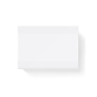 Boîte d'allumettes fermée blanche vierge, illustration de boîte d'allumettes. matchbox coulissante maquette