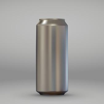 Boîte en aluminium réaliste