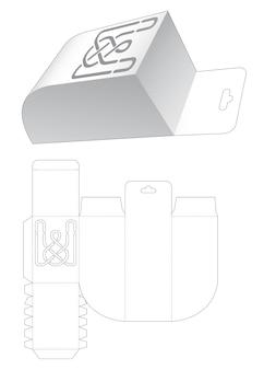 Une boîte d'angle arrondie inférieure avec trou de suspension et gabarit de découpe au pochoir