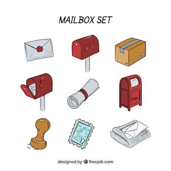 Boîte aux lettres collection d'icônes