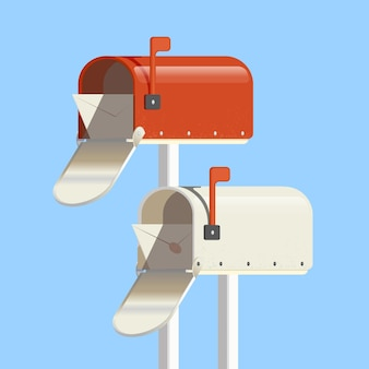 Boîte aux lettres pour les messages nouveau message mandat postal