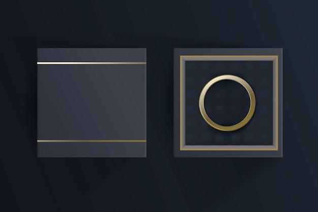 Boîte à bijoux 3d réaliste