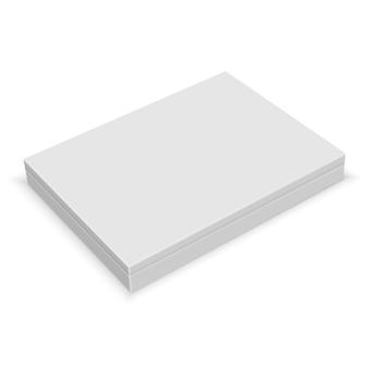 Boîte blanche blanche réaliste