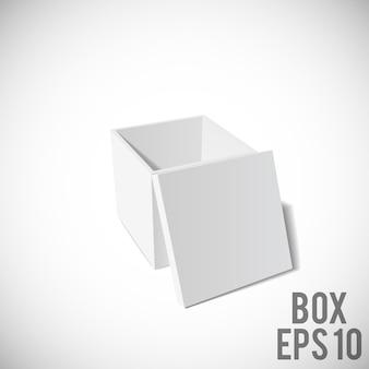 Boîte blanche maquette carton paquet eps 10