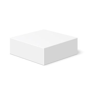 Boîte blanche. paquet. .