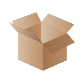 Boîte. boîte en carton. conteneur de courrier.