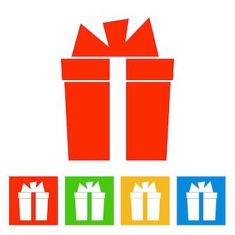 Boite cadeau. icône du nouvel an. illustration vectorielle