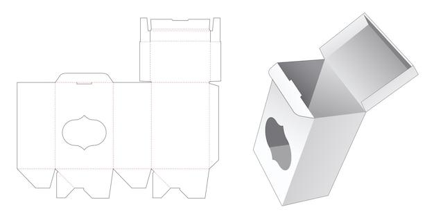 Boîte-cadeau à verrouillage automatique avec modèle de découpe de fenêtre de luxe