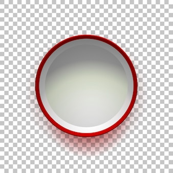 Boîte cadeau vide rouge ouvert isolé sur fond transparent vue de dessus