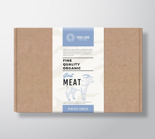 Boîte en carton artisanale de chèvre biologique de qualité supérieure.