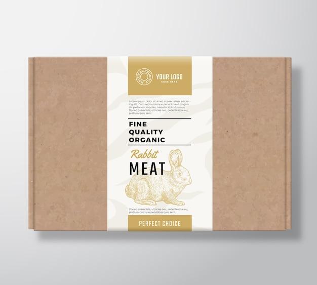 Boîte en carton artisanale de lapin biologique de qualité supérieure.
