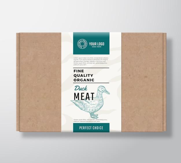 Boîte en carton d'artisanat de volaille biologique de qualité supérieure.