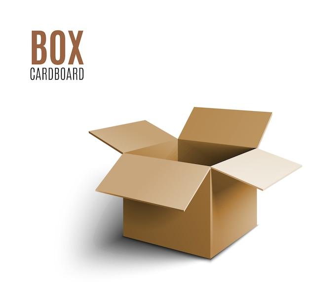 Boîte en carton brun