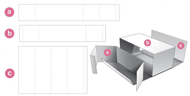 Boîte en carton avec gabarit prédécoupé