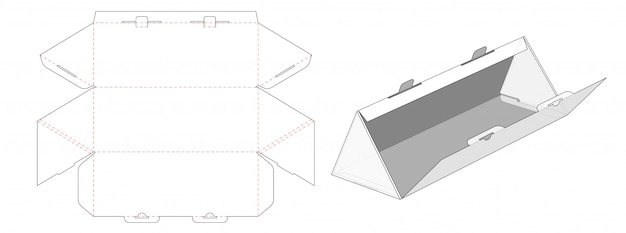 Boîte en carton ondulé de forme triangulaire