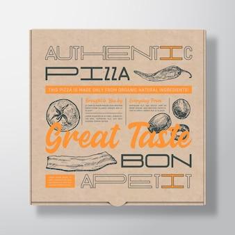 Boîte en carton réaliste pour pizza