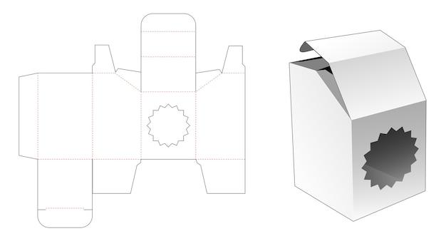 Boîte chanfreinée avec gabarit de découpe de fenêtre
