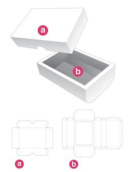 Boîte chanfreinée inférieure avec couvercle gabarit découpé