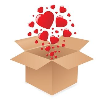 Boîte avec des coeurs
