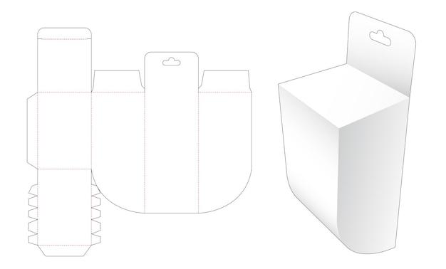Boîte de coin ronde inférieure avec trou de suspension gabarit découpé