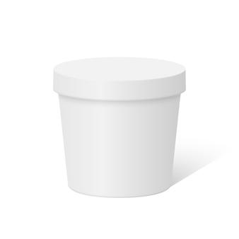 Boîte à contenant ronde en plastique