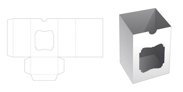 Boîte de couverture avec modèle de découpe de fenêtre vintage