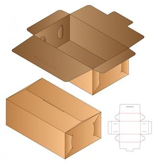 Boîte découpée modèle, conception de modèle découpé.