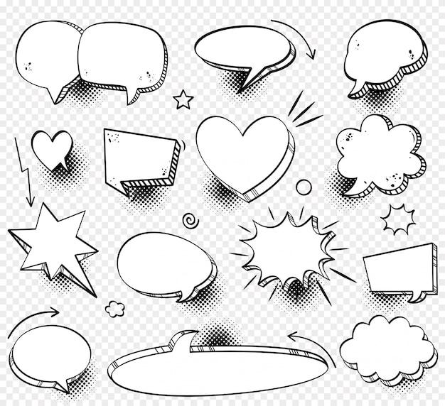 Boîte de dialogue comique nuage vide, texte de l'espace