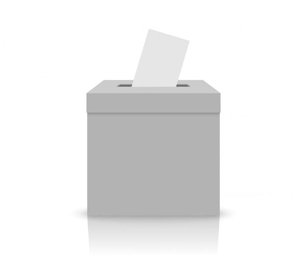 Boîte électorale blanche