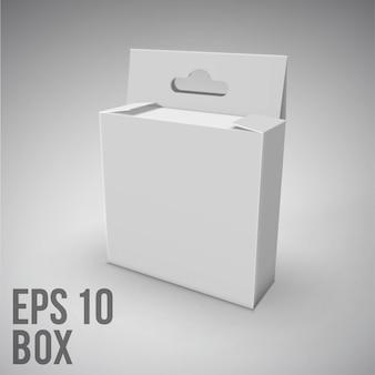 Boîte d'emballage blanc.mockup