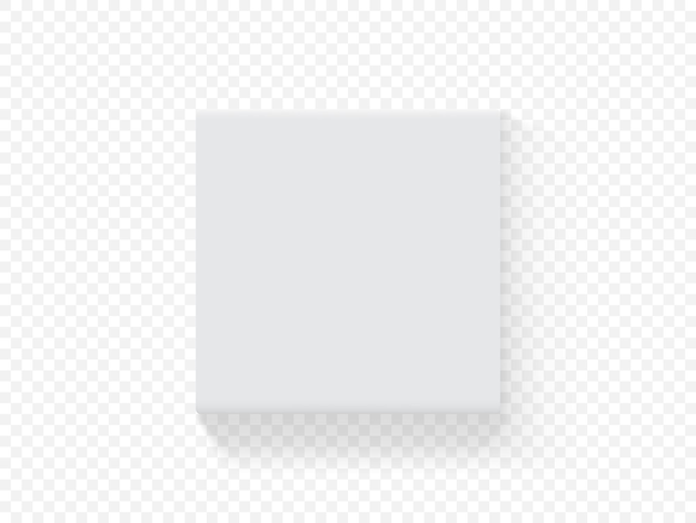 Boîte d'emballage carrée en papier de vecteur