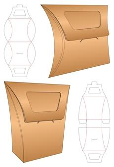 Boîte d'emballage de conception de modèle découpé. 3d