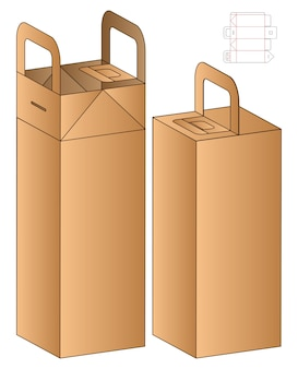 Boîte d'emballage de conception de modèle découpé.