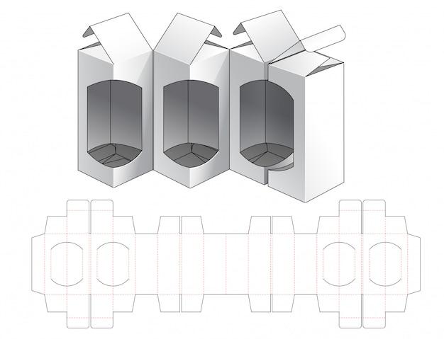 Boîte d'emballage conception de modèle de découpe