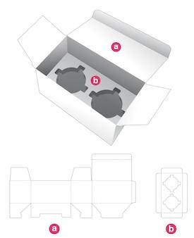 Boîte d'emballage cosmétique et insérer le modèle de découpe de support
