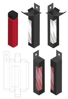 Boîte d'emballage die cut design de modèle
